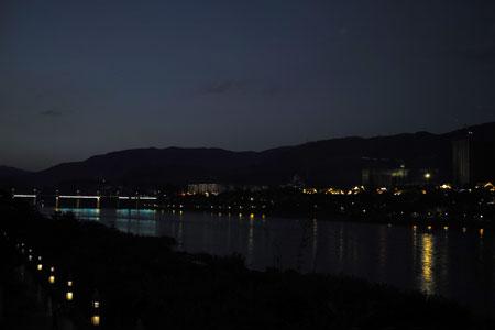 メコン川の日暮れ