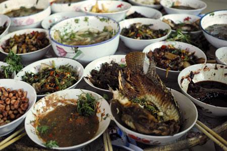西双版納のダイ族料理