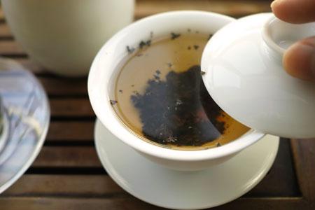 下関美術字鉄餅1995年プーアル茶