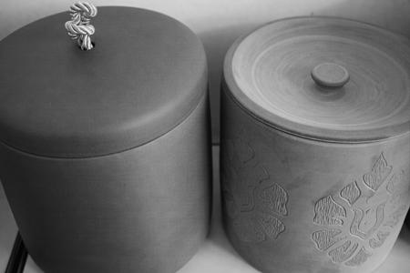 プーアール茶熟成壺