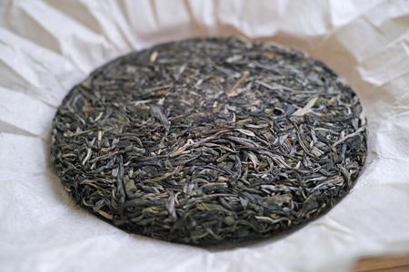 瑶郷古樹青餅2014年プーアル茶