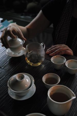 台湾の茶芸館の白茶