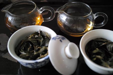 倚邦古樹青餅2014年・秋天プーアル茶