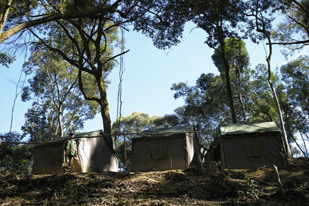 一扇磨のキャンプ