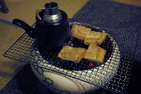 揚げ豆腐の炙り