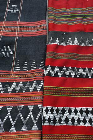 タイの織物カレン族