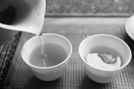一扇磨単樹A春の散茶2015年プーアル茶