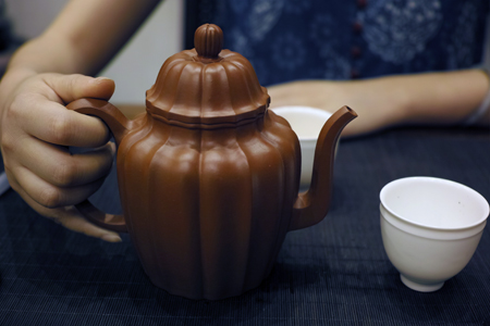 紫砂壺とプーアール茶