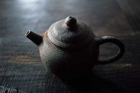 日本土の茶壺