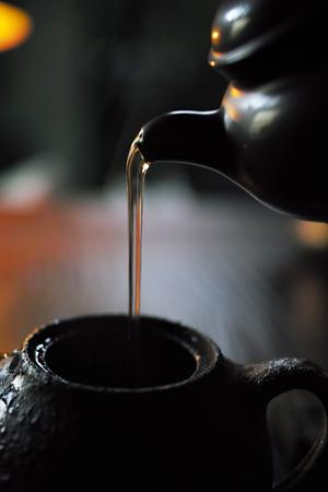 チェコ土の茶壺と紫砂の茶壺