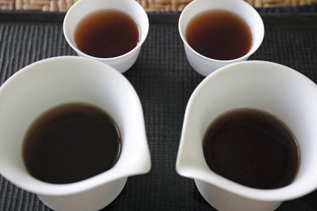 白磁の蓋碗2種3煎め茶海