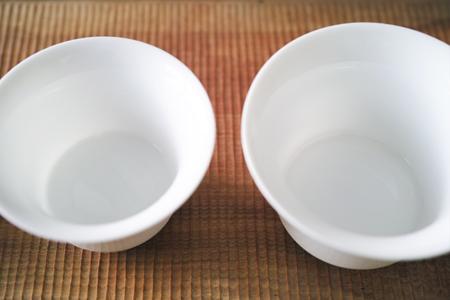 白磁の蓋碗大・小碗