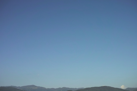 西双版納の乾季の空