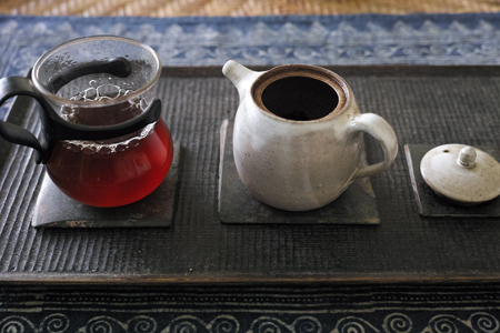 小堆発酵の熟茶泡茶1