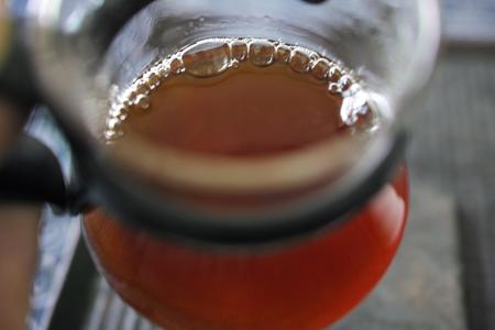 小堆発酵の熟茶泡茶2
