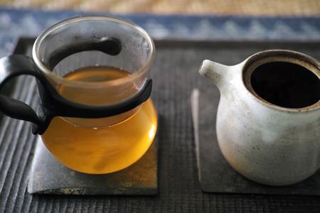 熟茶の泡茶5煎め