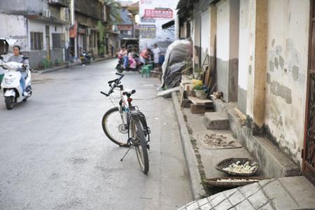 自転車で米綫