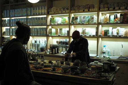 チェコのプラハの茶店