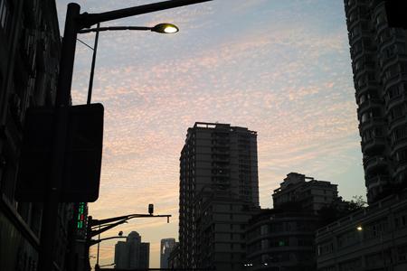 上海の夕方