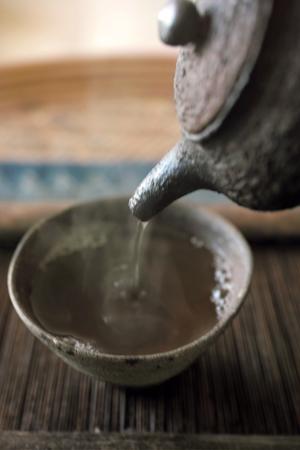 熱湯で淹れるプーアール茶