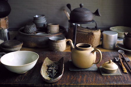 宜興の白泥の茶壺