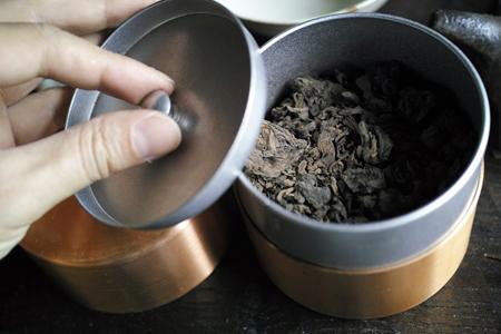 茶缶で熟成