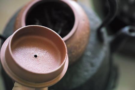 茶葉を温める