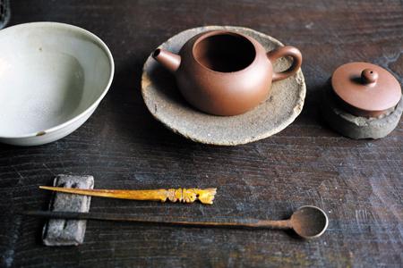 紅泥壺とお茶