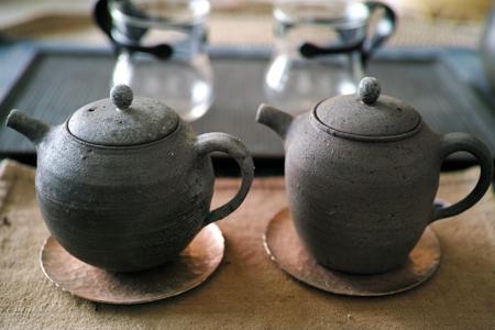 信楽土の茶壺