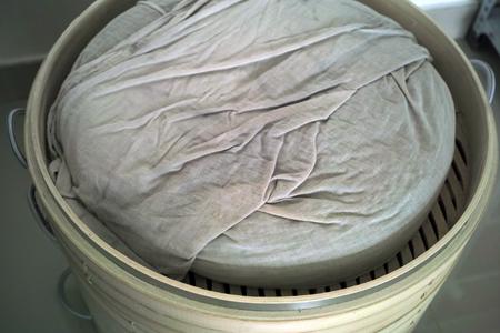 布袋の発酵茶葉