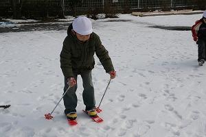 スキー遊び