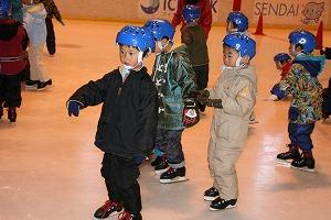 年長スケート教室