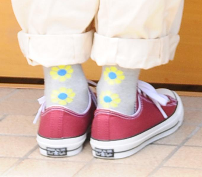 靴下アップ画像