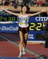 東京国際女子マラソンで復活の優勝を果たした高橋尚子