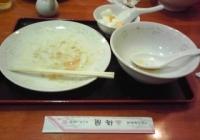 焼きそばのセット 食べ終わりかけ(^^;;