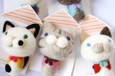 猫 雑貨 羊毛フェルト フワコロ*クラフト