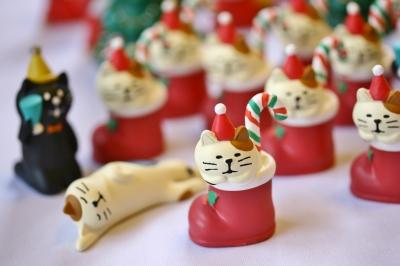 デコレ クリスマス 猫雑貨 猫グッズ 秋田