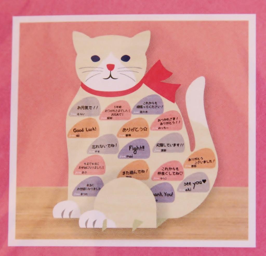 猫雑貨 猫グッズ 寄せ書き 色紙