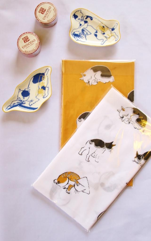 猫雑貨 国芳 広重 手ぬぐい 猫 マスキングテープ