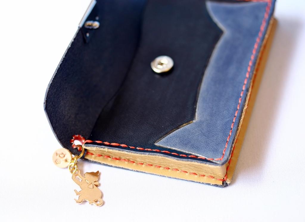 猫 雑貨 ハンドメイド 革