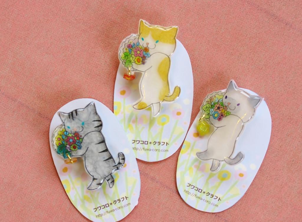 フワコロ*クラフト プラバン 猫雑貨 ハンドメイド