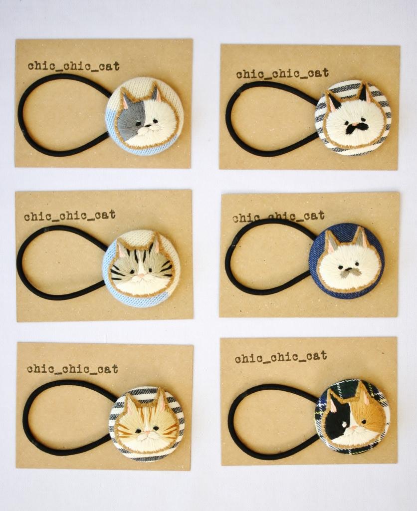chic_chic_cat 刺繍 猫雑貨 ハンドメイド