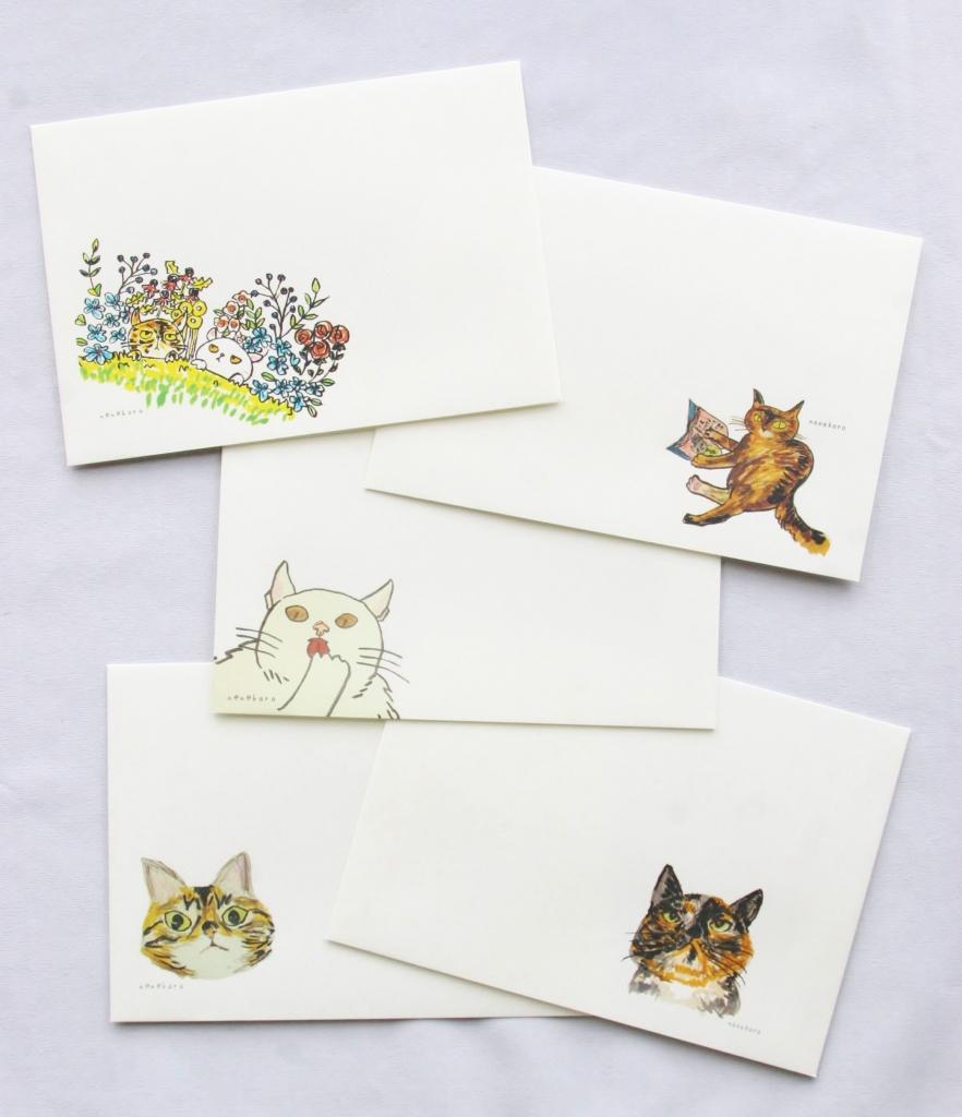 猫雑貨 猫グッズ カード 封筒 nenekoro 秋田