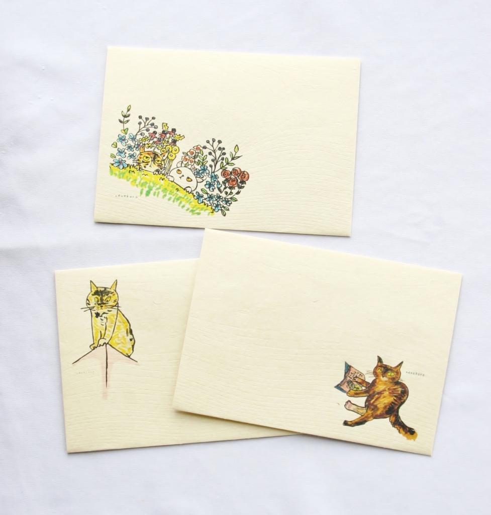 nenekoro ハンドメイド 猫雑貨 封筒 秋田