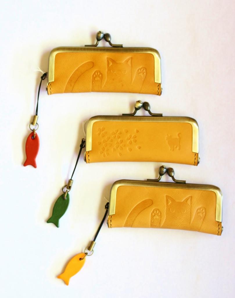 ハリネズミ キーホルダー 猫雑貨 革小物