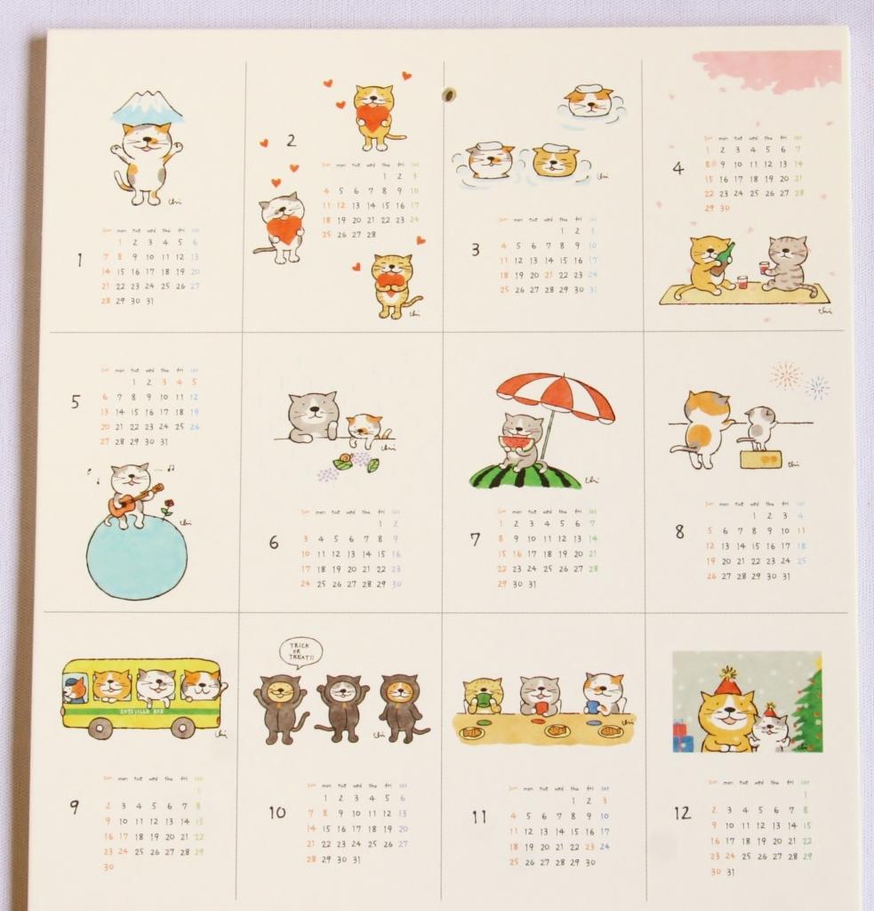 カミムラアキコ カレンダー 猫雑貨 秋田 かぎしっぽ necoya