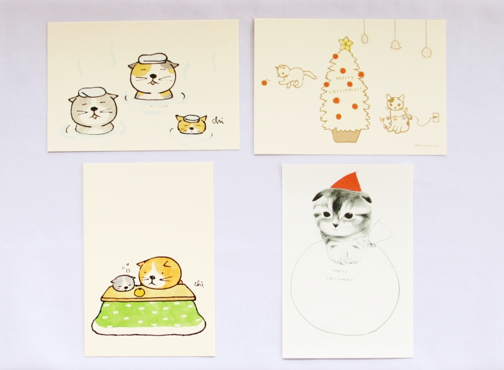 necoya カミムラアキコ ポタリングキャット 年賀状 秋田 猫雑貨 かぎしっぽ