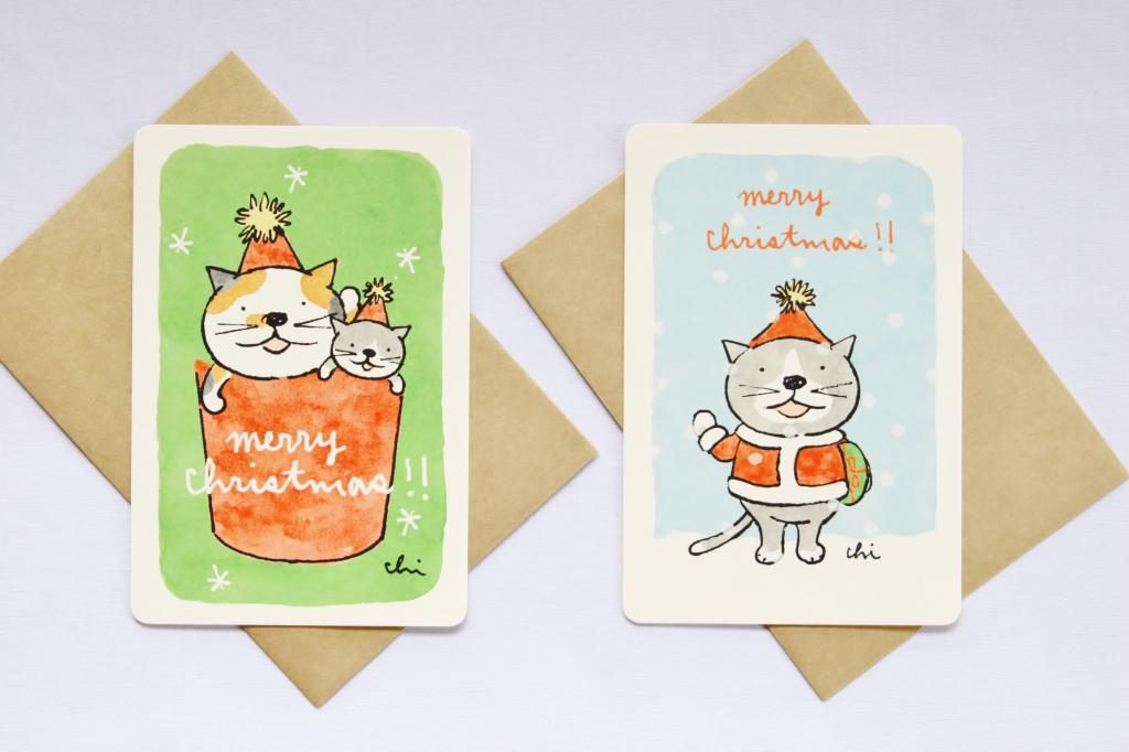 カミムラアキコ necoya 年賀状 秋田 猫雑貨 かぎしっぽ