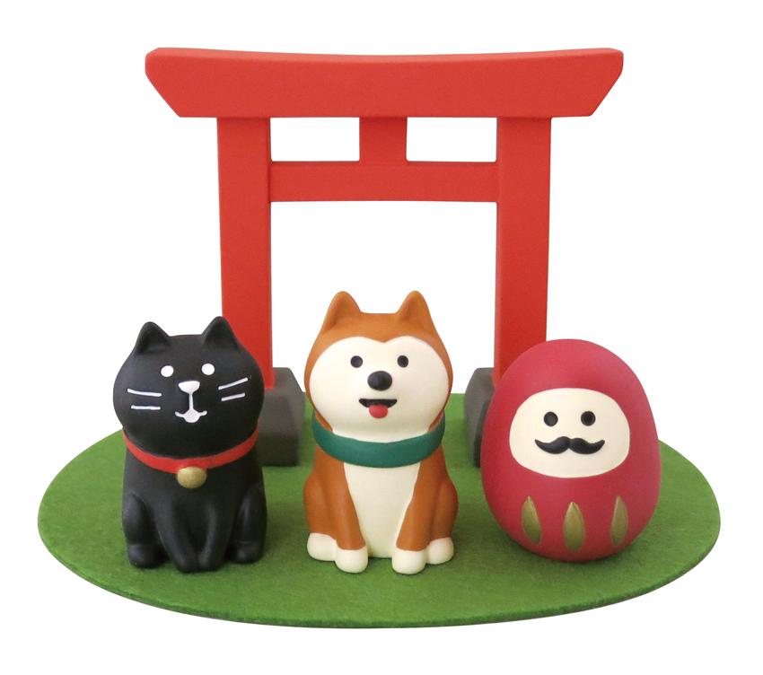 正月 まったり 初詣セット  デコレ concombre 猫雑貨 秋田 かぎしっぽ