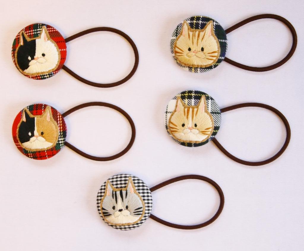 chicchiccat 猫雑貨 刺繍 秋田 ハンドメイド かぎしっぽ